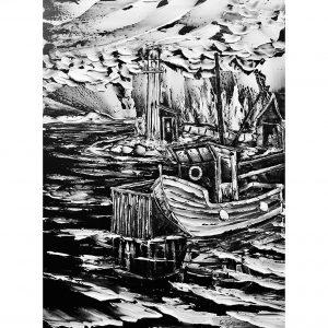 le grand depart guillaume gagnon artiste peintre ste-flavie