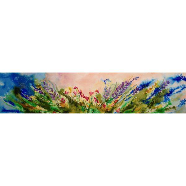 Grande sérénité 10x40  #71002 aquarelle 945.00$