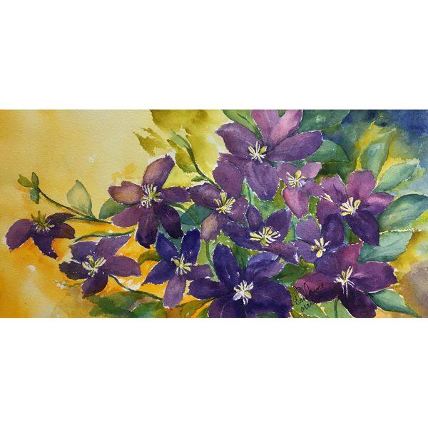 Energie matinale 6x12 #80812 aquarelle 310.00$ Ghislaine Carrier