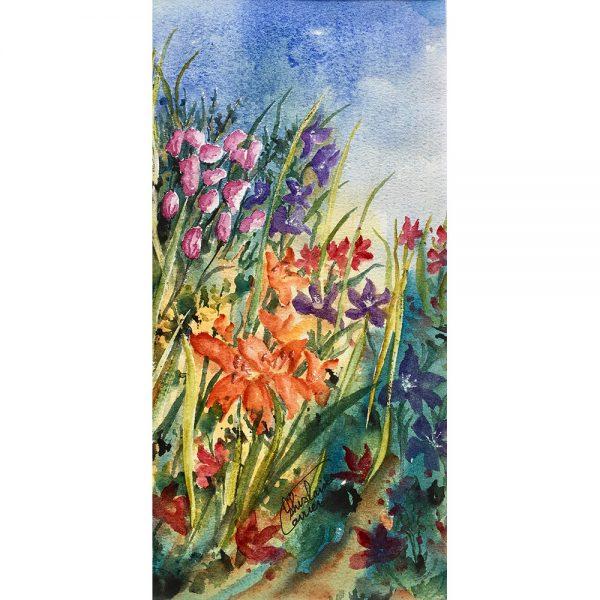 La magie de l'instant présent #1200215 aquarelle 5x10 $255.00