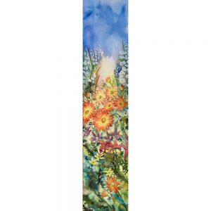 Abondance florale #120120 aquarelle 7x30 $615.00