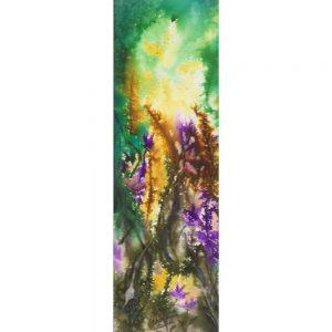 Saveur florale #120504 aquarelle 4x12 $300.00