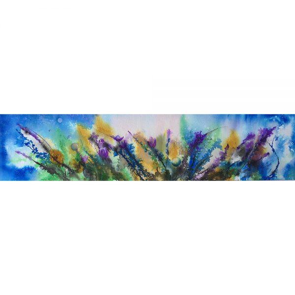 En pleine harmonie #120610 aquarelle 7x30 $600.00