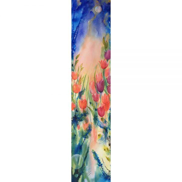 Émotions printanières #120621 aquarelle 10 x40 $965.00