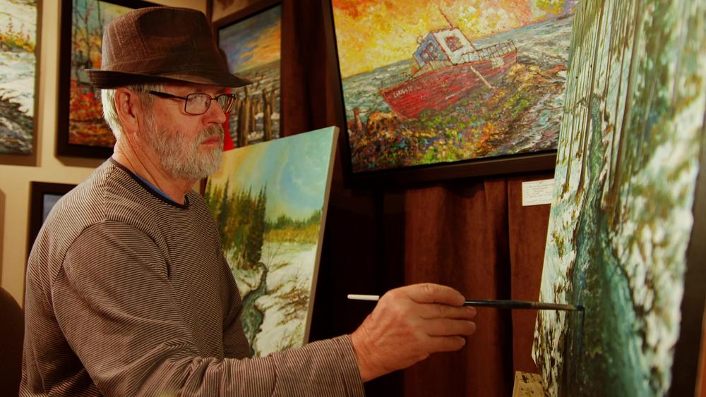 Galerie d'art, Centre d'Art Marcel Gagnon, Sainte-Flavie, Gaspésie