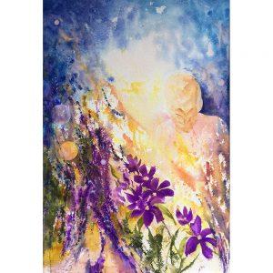 Grande sérénité 2 #120518 aquarelle 22x30 $990.00